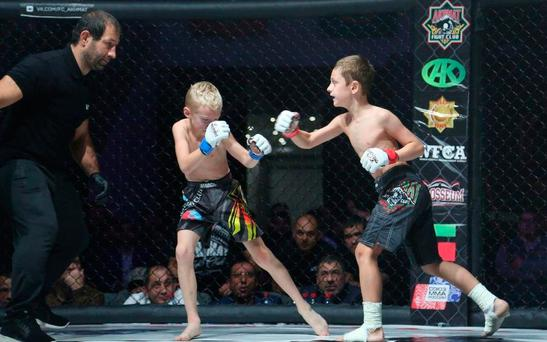 Russian martial artists have expressed shock that children under 12 took part in the televised bouts in Grozny. Credit: vk.com