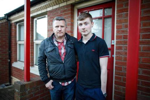 Calum McNeill with his dad Gordon from Ballymena