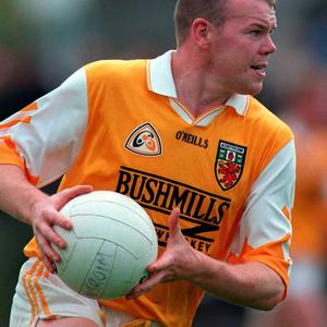 Anto Finnegan captained the Antrim Gaelic football side