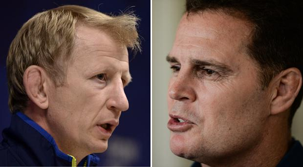 Leo Cullen and Rassie Erasmus will pit their wits against each other for the first time tomorrow