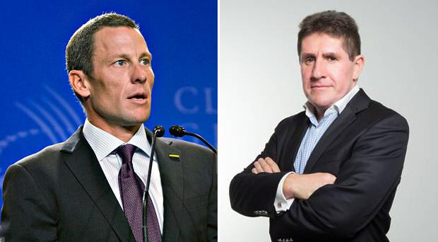 Lance Armstrong and Paul Kimmage