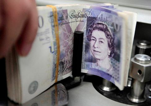 Sterling settled around 89 pence by the close of business after a so-called 'flash crash' in Asia overnight had sent it briefly to more than 92 pence. Photo: Reuters