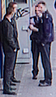 Gardaí at the scene of the attack