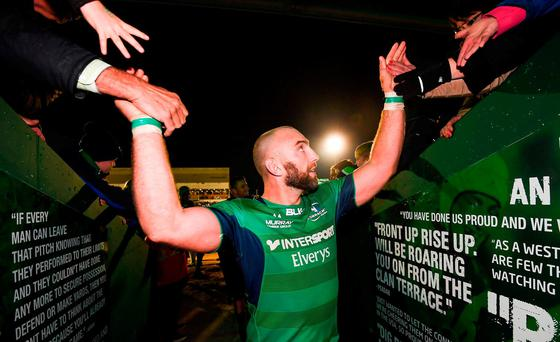 John Muldoon of Connacht following his side's victory during the Guinness PRO12 Round 6 match between Connacht and Ulster at the Sportsground in Galway. Photo by Stephen McCarthy/Sportsfile