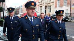 Supt David Taylor with then Commissioner Martin Callinan and Deputy Commissioner Nóirín O'Sullivan in 2013 Photo: Damien Eagers / Irish Independent
