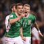 Seamus Coleman celebrates after scoring for Ireland against Georgia