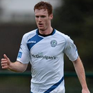 Finn Harps' Sean Houston scored twice against his old team Bray Wanderers last night. Picture: Sportsfile.