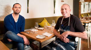 Andrew Heron and Damien Grey at the Michelin Star restaurant Heron and Grey in the Blackrock Market Photo: Tony Gavin 6/10/2016