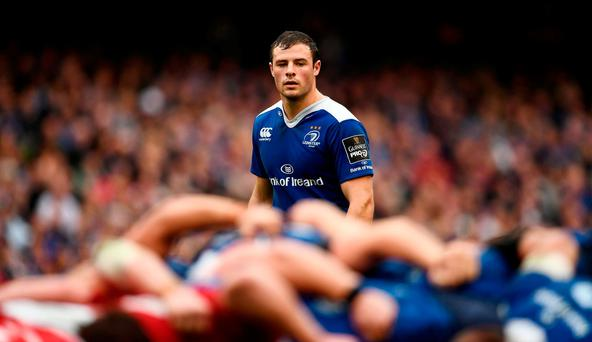 Robbie Henshaw of Leinster during the Guinness PRO12 Round 6 match between Leinster and Munster at the Aviva Stadium in Lansdowne Road, Dublin. Photo by Brendan Moran/Sportsfile