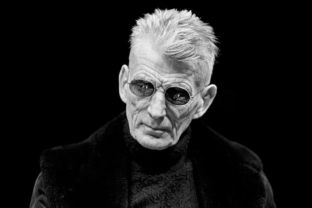 Samuel Beckett pictured at the Royal Court Theatre in 1973. Photograph: John Haynes