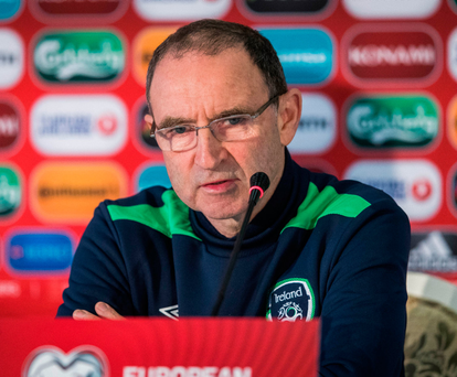 Martin O'Neill says tonight's game is a big test. ©INPHO/Ryan Byrne