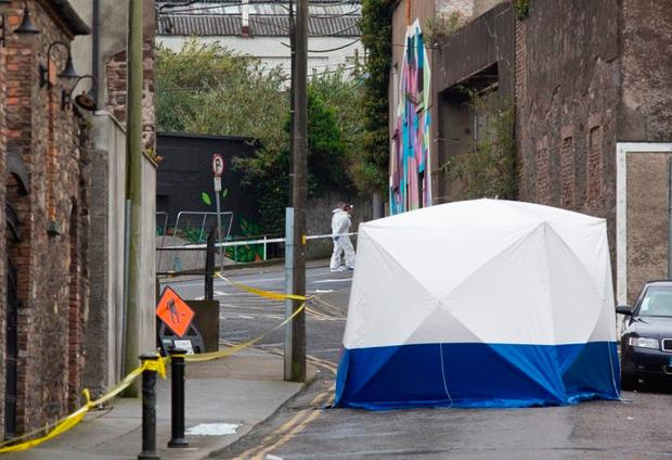 Scene of the stabbing in New Street Waterford