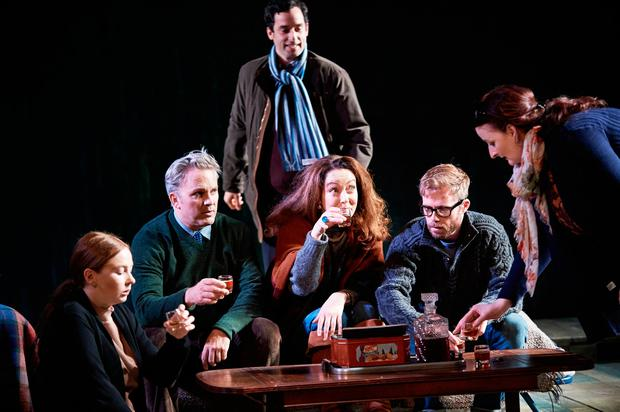 Imogen Doel, Louis Lovett, Stephen Mullan, Derbhle Crotty, Rory Keenan, Anna Healy in The Seagull. Photo: Ros Kavanagh