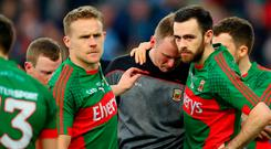 Mayo dejected after defeat to Dublin in the 2016 All Ireland final