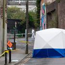 Stabbing: The murder scene in Waterford