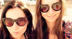 Just the ticket: Sophie (left) pictured with a friend in Ibiza as she took a life-changing trip through Europe