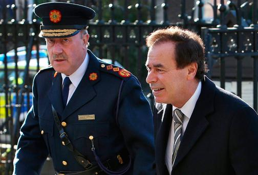 Old guard: Former Garda Commissioner Martin Callinan and former Minister for Justice Alan Shatter Picture: Steve Humphreys