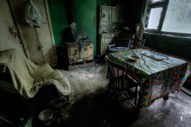 The kitchen is left without floorboards Photo: Donal Moloney