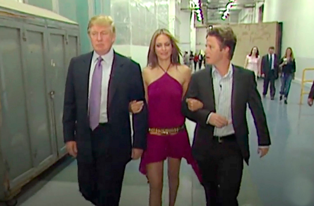 Donald Trump with Days of our Lives actress Arianne Zucker and former Access Hollywood TV presenter Billy Bush