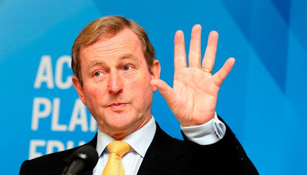 Taoiseach and Fine Gael leader Enda Kenny. Pic: Tom Burke