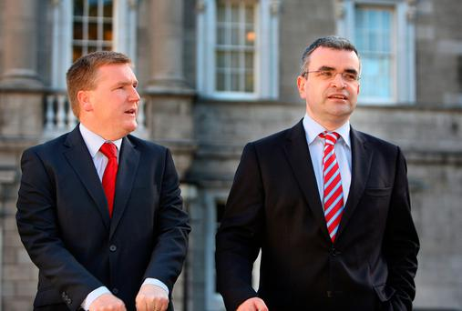 eyes on the prize: Fianna Fail's Michael McGrath will aim his Budget remarks on Tuesday more towards his rivals in opposition, than at the Government benches. Photo Tom Burke