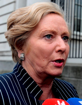 'Still Frances Fitzgerald found time in her busy schedule last Thursday to give a rousing speech at Dublin's Royal Hibernian Academy about the need to empower girls to achieve their potential.' Photo: Tom Burke