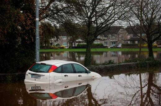 Damage: Floods hit Limerick badly last year Picture: Arthur Carron
