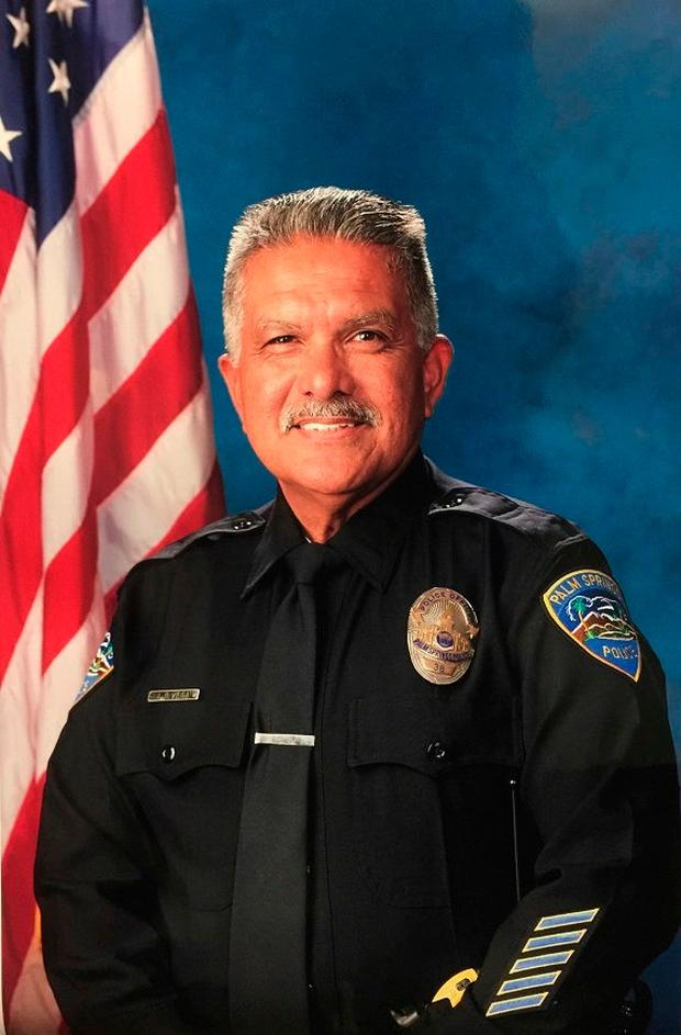 In this photo released by the Palm Springs Police Department shows slain officer Jose