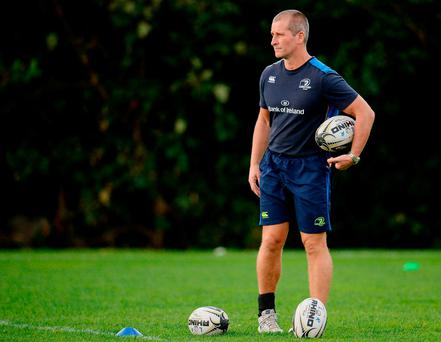 3 October 2016; Leinster senior coach Stuart Lancaster during squad training at UCD in Belfield, Dublin. Photo by Seb Daly/Sportsfile