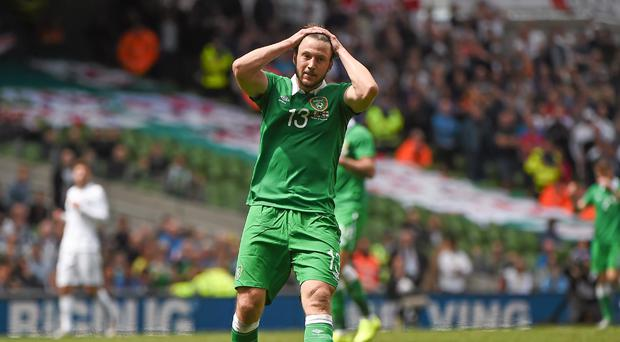 Harry Arter in action for Ireland