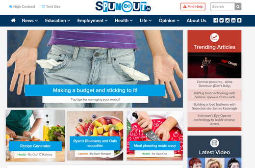 Spunout.ie has just beaten off some of Ireland's most established businesses and organisations for redesigning their website in a way that is easily accessible for the visually impaired.