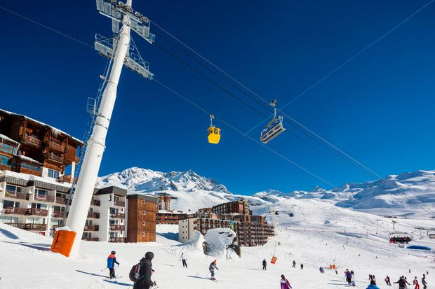 The ski area at Les Trois Vallees (The Three Valleys)
