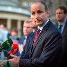 Micheál Martin was critical of the lack of vision from the Government. Photo: Arthur Carron
