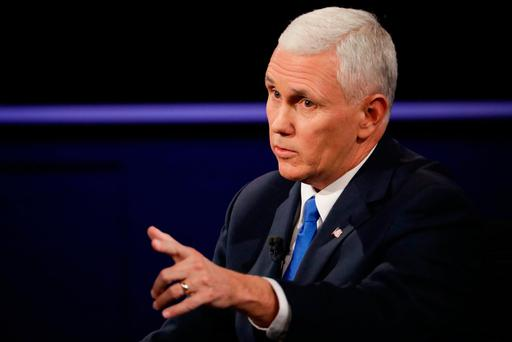 Condemnation: Mike Pence had harsh words for Trump. (AP Photo/David Goldman)