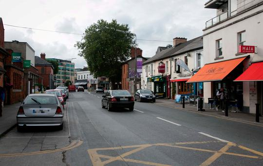 Shelbourne Road, Dublin where a 47-year-old man died after being struck by a car. Photo: Gareth Chaney Collins