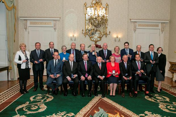 Members of the government last April. Photo: Kyran O'Brien