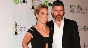 Kathryn Thomas and Padraig McLoughlin at the IFTA TV Awards