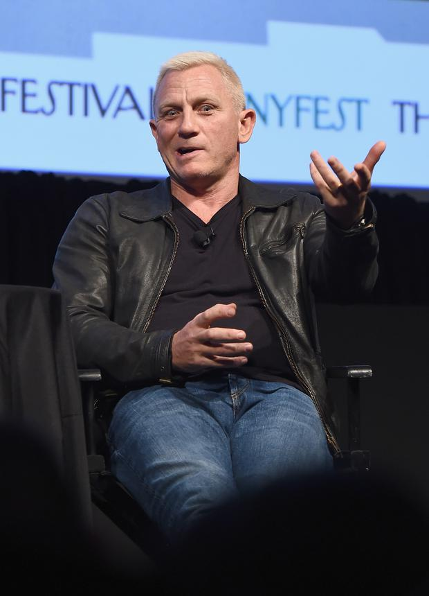 Actor Daniel Craig speaks onstage during The New Yorker Festival 2016 - Daniel Craig Talks With Nicholas Schmidle at MasterCard Stage at SVA Theatre on October 7, 2016 in New York City. (Photo by Ilya S. Savenok/Getty Images for The New Yorker)