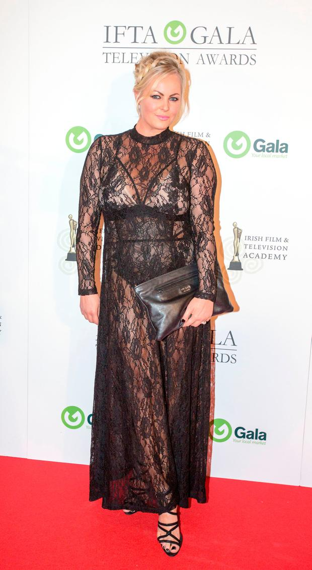 Amanda Brunker at the IFTA gala television awards ceremony held at the DoubleTree Hilton, Dublin. Picture: Mark Condren