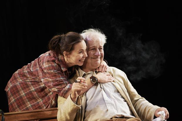 Jane McGrath and Stephen Brennan in The Seagull by Anton Chekhov in a new version by Michael West and Annie Ryan at the Gaiety Theatre. Pic: Ros Kavanagh