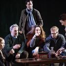 Imogen Doel, Louis Lovett, Stephen Mullan, Derbhle Crotty, Rory Keenan, Anna Healy in The Seagull by Anton Chekhov in a new version by Michael West and Annie Ryan at the Gaiety Theatre. Pic: Ros Kavanagh