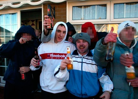 Kieran 'Rashers' Ryan on left and Edward 'Eds' McCarthy celebrating the murder of Kieran Keane in 2003