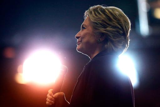 Last week's email release purported to show messages from private paid speeches Clinton delivered, in which she voiced support for 'open trade and open borders' and discussed being 'kind of far removed' from middle-class life. REUTERS/Lucy Nicholson