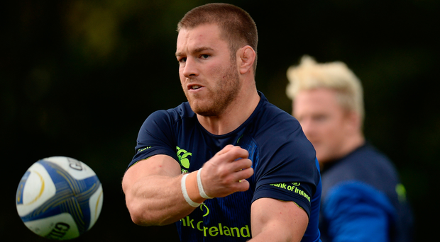 Sean O'Brien in action during Leinster training at UCD yesterday SEB. Picture: Sportsfile