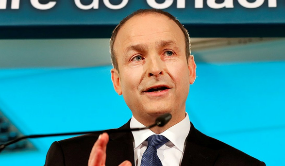 Chasing grey vote: FF leader Micheál Martin. Photo: Steve Humphreys