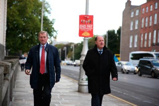 Enda Kenny arrives to work on Budget Day