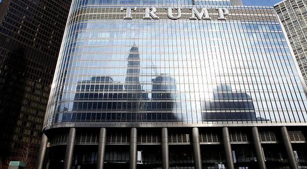 CHICAGO - MARCH 14: Trump International Hotel and Tower on MARCH 14, 2015 in Chicago, Illinois. (Photo By Raymond Boyd/Getty Images)