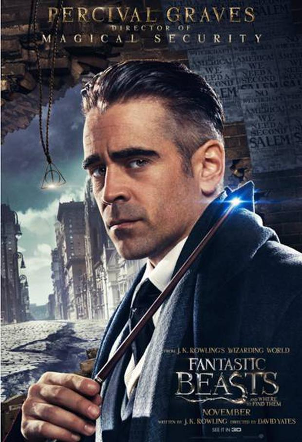 Colin Farrell as Percival Graves in JK Rowling's Fantastic Beasts. Pic: Warner Brothers