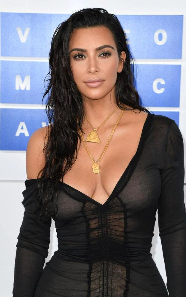 Kim Kardashian West attending the 2016 MTV Video Music Awards at Madison Square Garden in New York. Kardashian was held at gunpoint in a Paris hotel on October 3, 2016 but was unharmed. CREDIT: ANGELA WEISS/AFP
