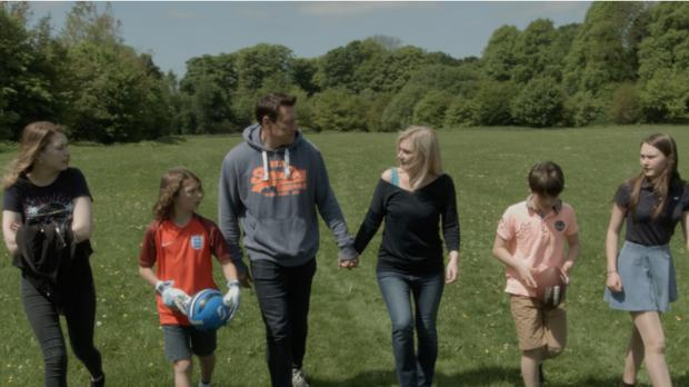Anne Marie pictured with her husband Adrian and their children. Photo Credit: TV3